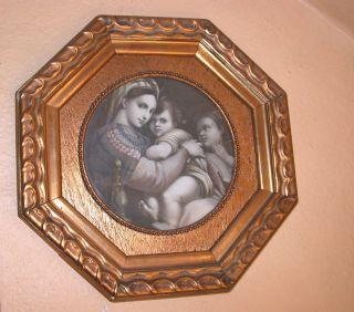 Verzierter Rahmen,  Antik Mit Mariabild,  Achteck,  Goldfarben Bild