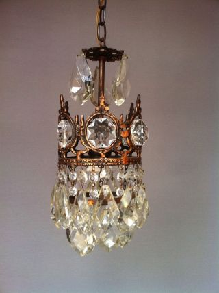 Lüster Kristall Alter Kronleuchter Korblüster Bleikristall Bild