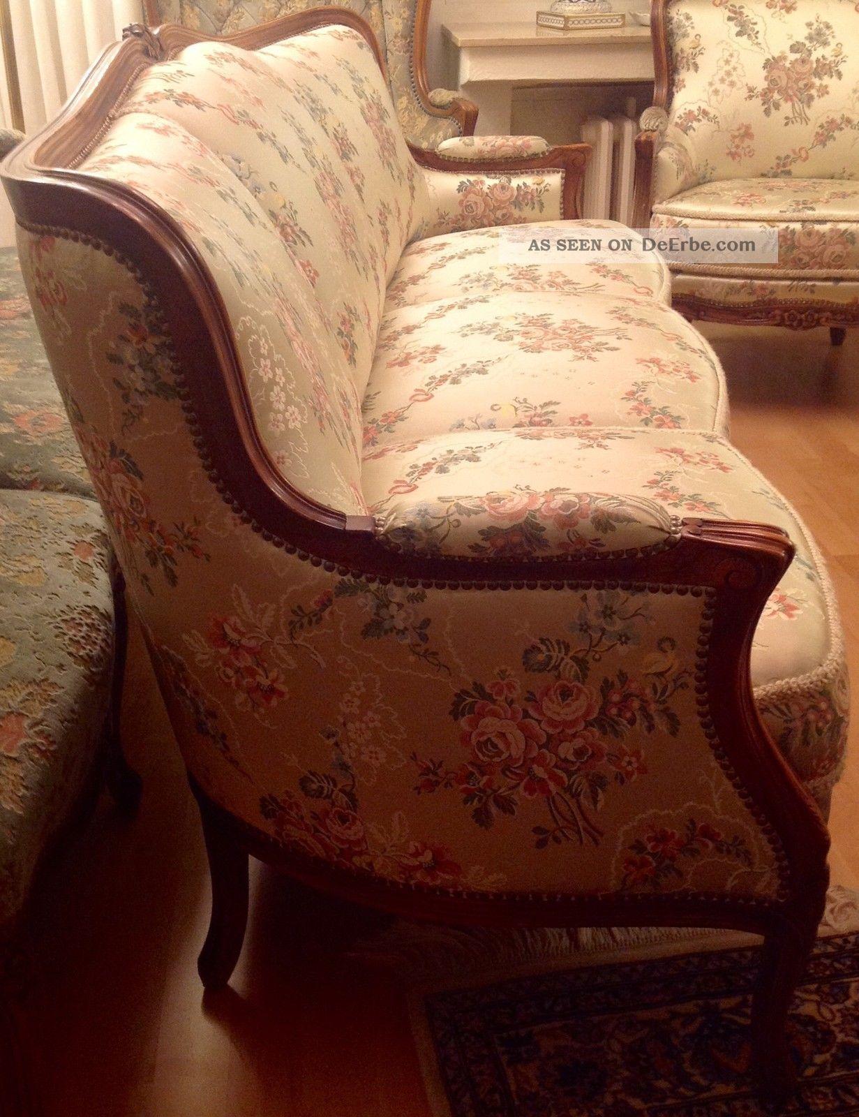 1 sofa dreisitzer und 2 sessel im stil des barock rokoko chippendale chintz. Black Bedroom Furniture Sets. Home Design Ideas