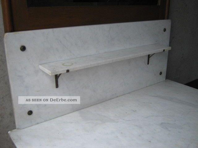 alte kommode marmorplatte spiegel waschkommode massivholz. Black Bedroom Furniture Sets. Home Design Ideas