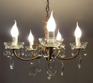 Kronleuchter Lüsterbehang Messing Lampe Lüster France Antik Shabby Landhaus Bild