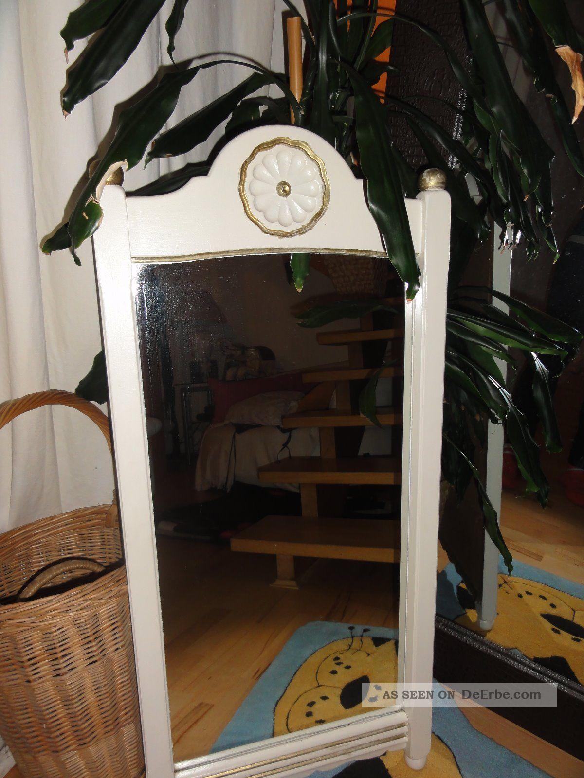 alte spiegel shabby im wei 90x46. Black Bedroom Furniture Sets. Home Design Ideas