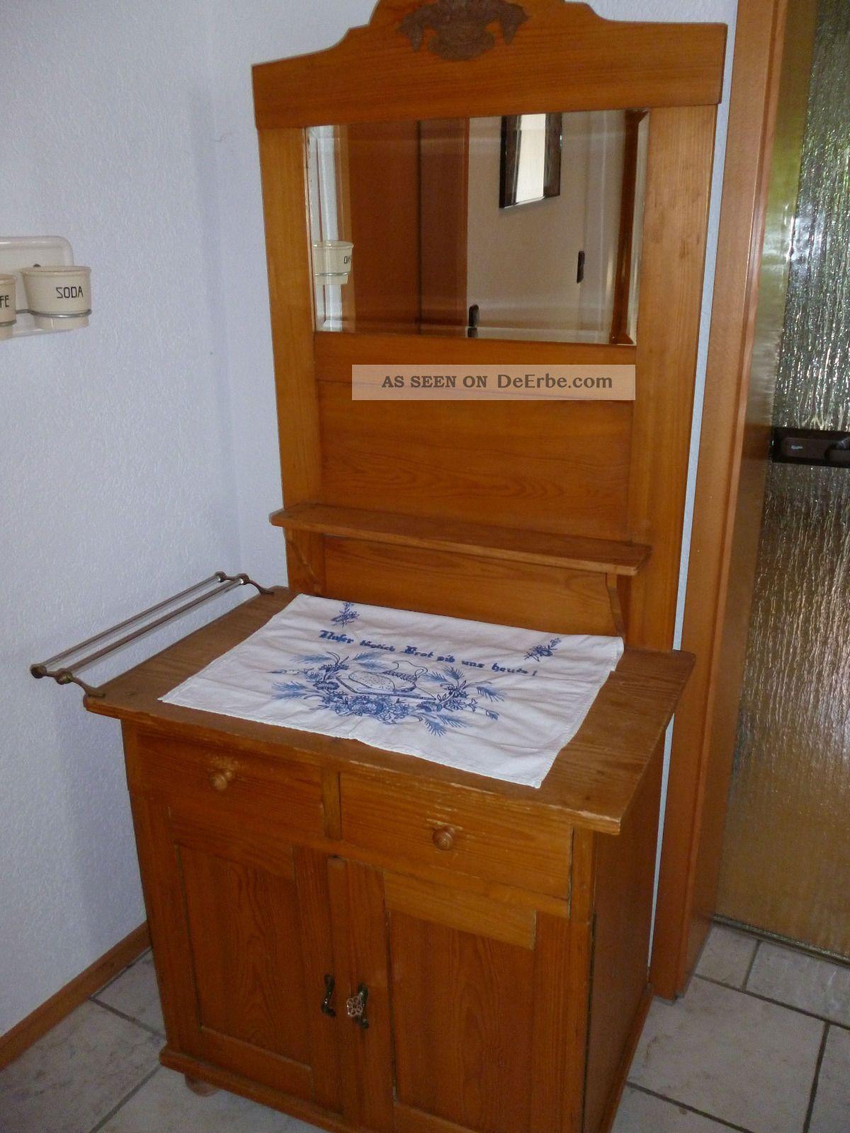 alte weichholzkommode waschtisch mit spiegel. Black Bedroom Furniture Sets. Home Design Ideas