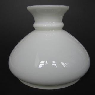 Lampenschirm F.  Petroleumlampe 18,  8 Cm Schirmaufsatz Glasschirm Schirm Weiß Bild