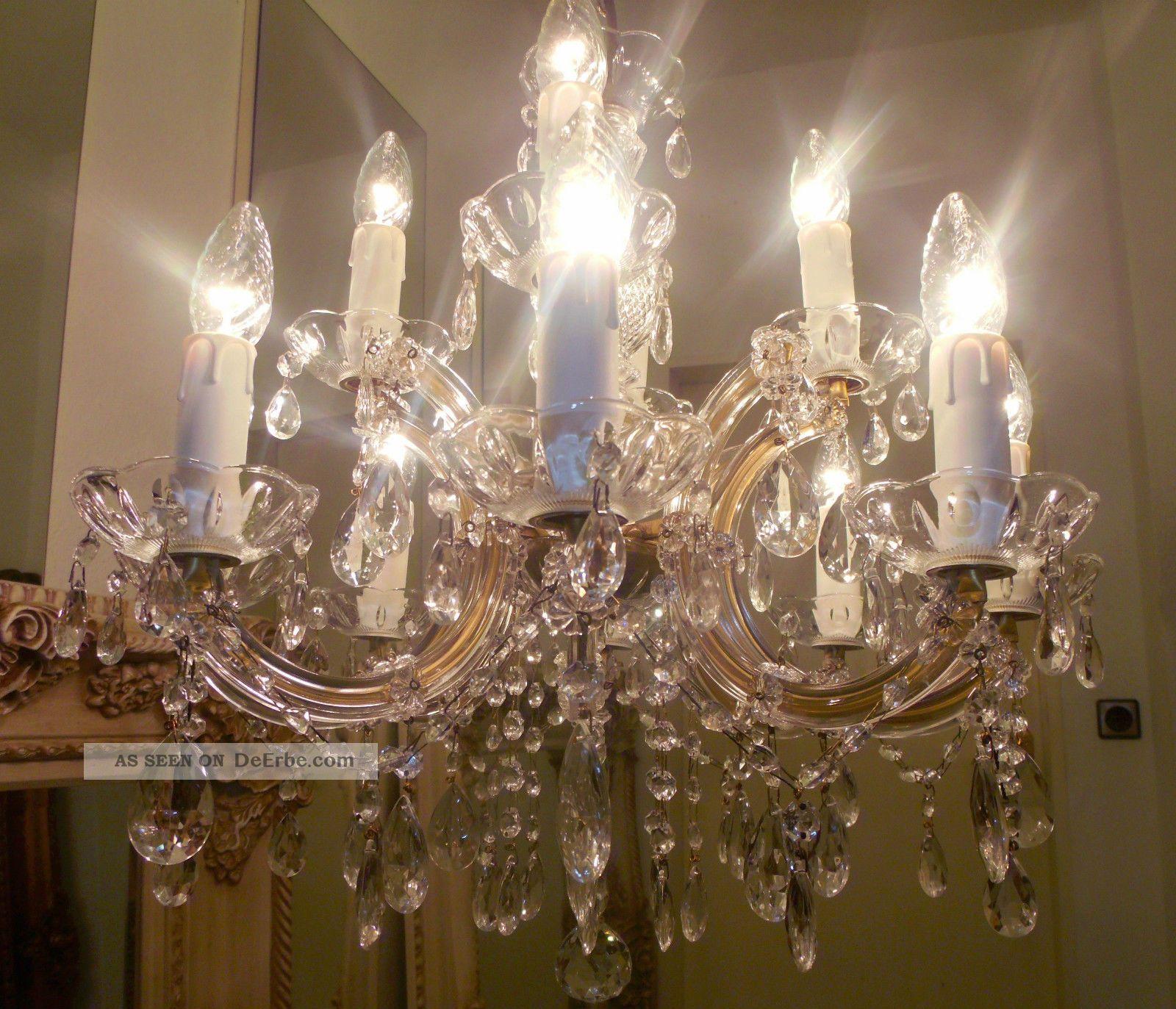 Kronleuchter 12 flammig kristall l ster maria theresia lampe chandelier barock - Kronleuchter stehlampe ...