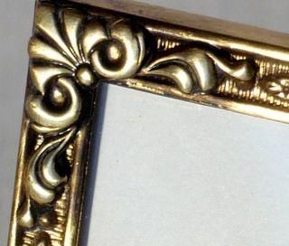 Antiker Musealer Bilderrahmen Rahmen Jugendstil Bronze Gewölbtes Glas Bild