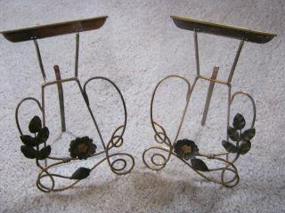 2 Schöne Antike Bilderrahmen Bilderständer Messing Jugendstil Floral Mit Glas Bild