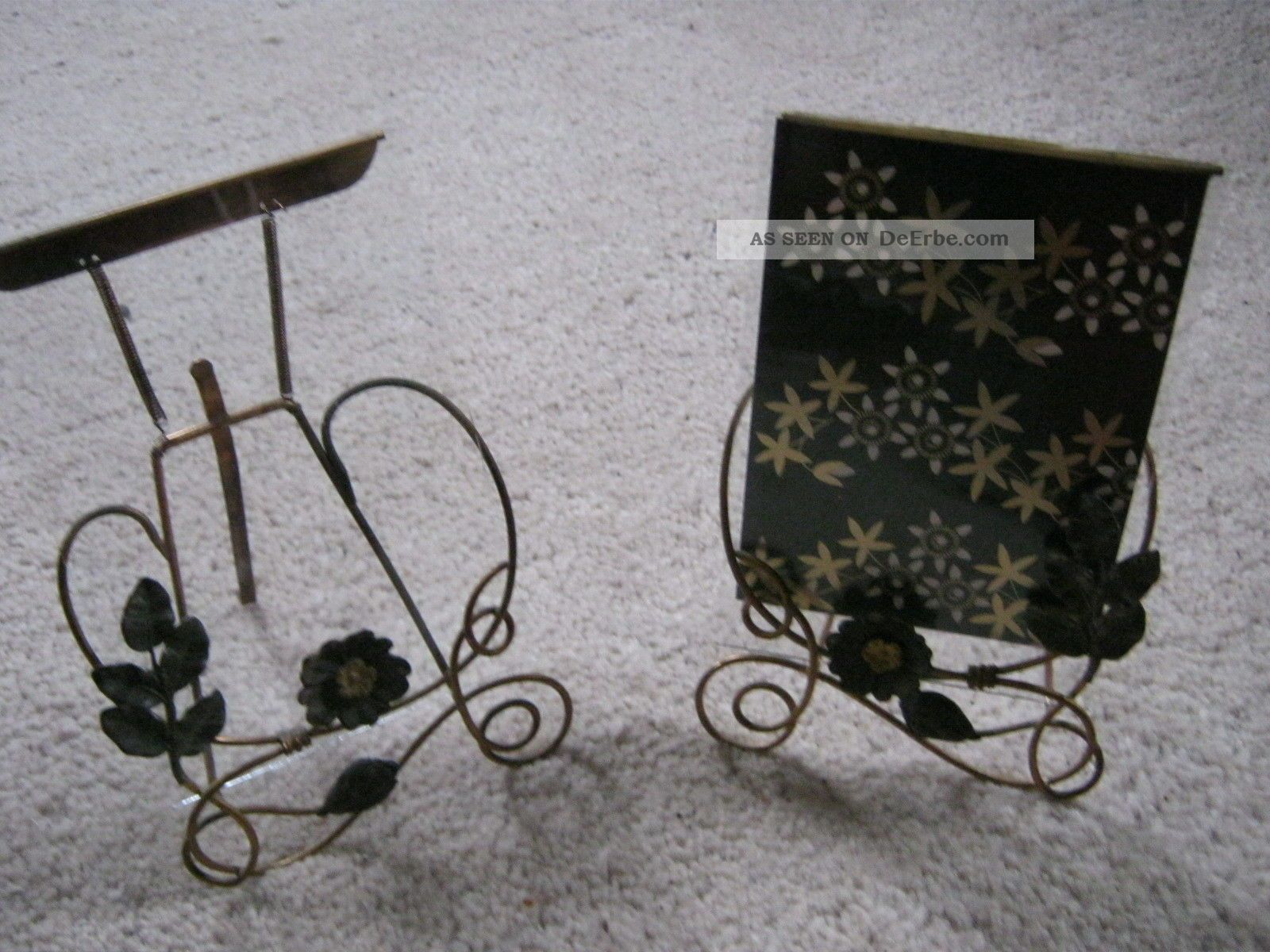 2 sch ne antike bilderrahmen bilderst nder messing. Black Bedroom Furniture Sets. Home Design Ideas