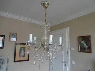 Lampe Lüster Kronleuchter Kristall LÜster Maria - Theresia - Stil 5 Flammig Bild