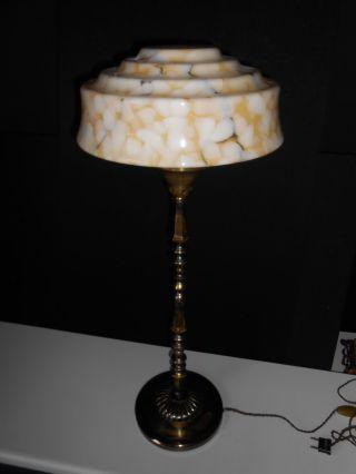 Elegante Jugendstil Art Deco Tischlampe Leuchte Lampe France Glas Höhe 75 Cm Bild