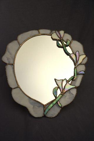 Tiffany Spiegel Mit Perlmutt Blüten,  Blumen,  Handarbeit,  Jugendstil - Design Bild