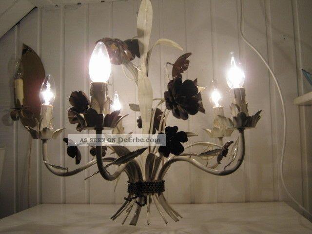 Kronleuchter Mit Blättern ~ Florentiner blumen lampe kronleuchter fl blätter weiß braun