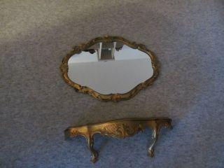 Barock Wandspiegel Und Spiegel Konsole - Gold Antik Bild
