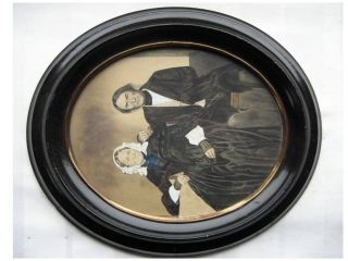 Alter Ovaler Bilderrahmen,  Rahmen,  Holzrahmen,  Lackrahmen,  Schellack,  Jugendstil Bild