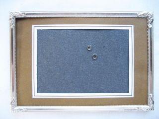 Alter Bilderrahmen,  Rahmen,  Metallrahmen,  Metall,  Gr.  15 X 11 Cm. Bild