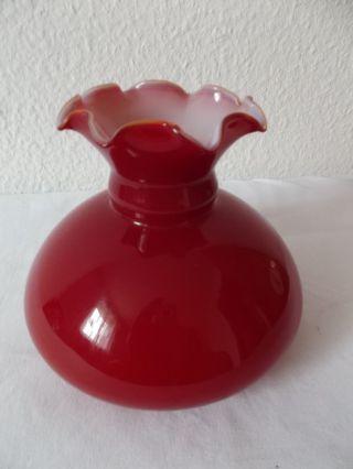 Petroleumlampenschirm Lampenschirm Ersatzglas Rot Ø 12,  3 Cm Schmöger Leuchten Bild