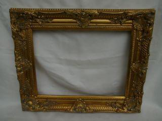 Großer Bilderrahmen Prunkrahmen Barockrahmen Antik - Golden Holz 54x44 Cm Bild