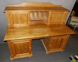 Schreibtisch Weichholz Mit Aufsatz Aufbau Tisch Sekretär Bild