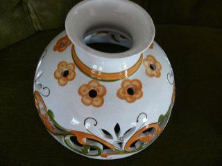 1 StÜck Petroleum Lampenschirm 24,  5 Cm Keramik Blumen Decor Bild