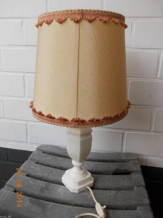 Zwei (2) Hübsche Tischlampen Tischleuchten Schirmlampen Marmor Onyx Bild