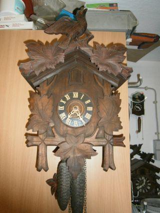 Alte Uhr,  Kuckucksuhr Ca.  1920 Bild