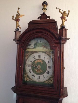 Alte Antike Friesische Standuhr Eiche Friesenuhr Friese Alter Regulator Clock Bild