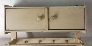 Altes Küchenhängeschränkchen Hängeschrank 50er Art Deco Bauhausstil Shabby Chic Bild