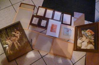 Konvolut Alte Bilderrahmen Bilder 16 Stück - Gobelinbild Wandbilder Bild