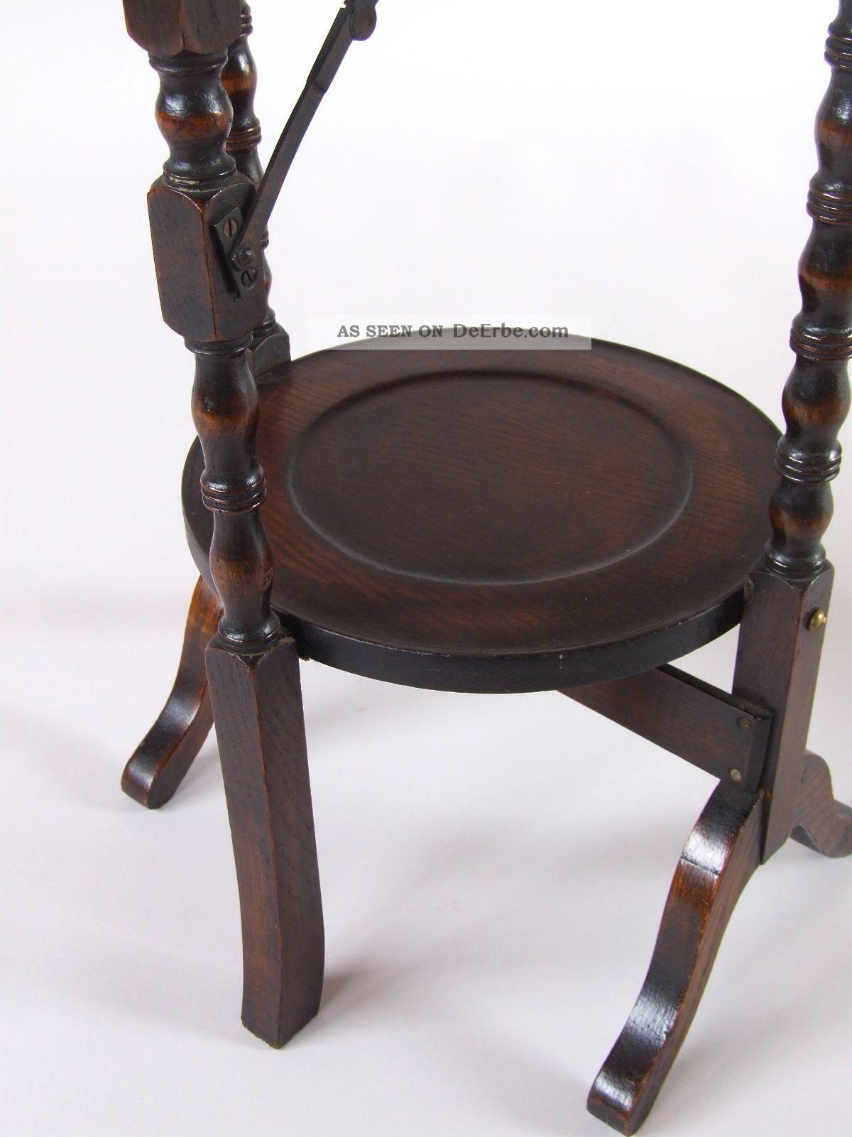 Antike etagere klappbar holz regal england ca 1920 for Esstisch klappbar speisezimmer