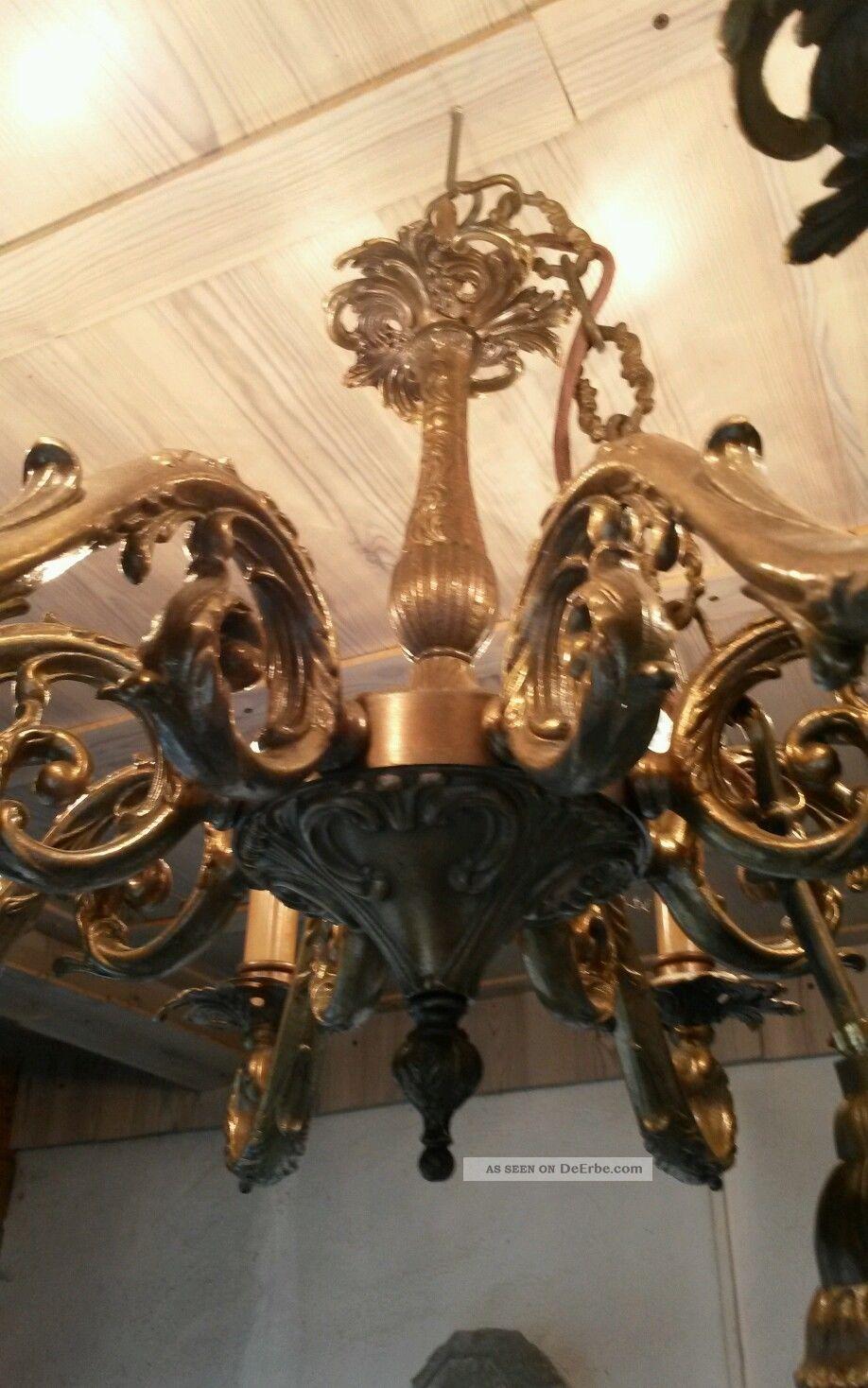alter kronleuchter messing 8 flammig antik qualit t. Black Bedroom Furniture Sets. Home Design Ideas