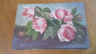Stillleben Rosen Um 1890 - 1900 Öl Auf Leinwand Bild