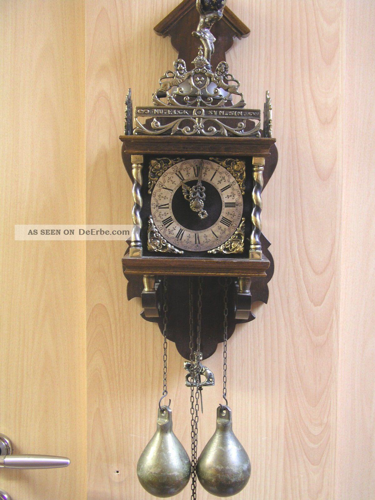 sehr gro e wuba zaanse clock reiterpendel sichtbar regulator wanduhr friesenuhr. Black Bedroom Furniture Sets. Home Design Ideas