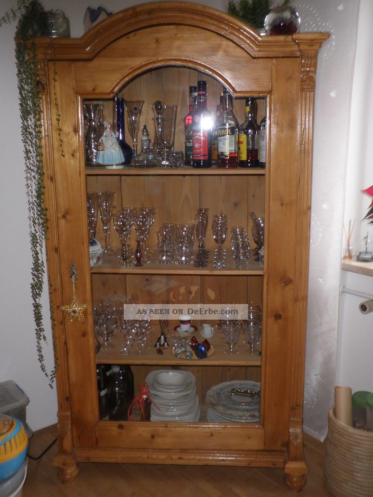 Glasschrank vitrine um 1910 167 x 93 cm abhlg mindelheim for Glasschr nke