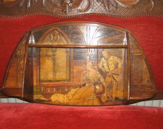 Außergewöhnlich Uralt Regal Massivholz Mit Mittelalterszene Frankreich Shabby Bild