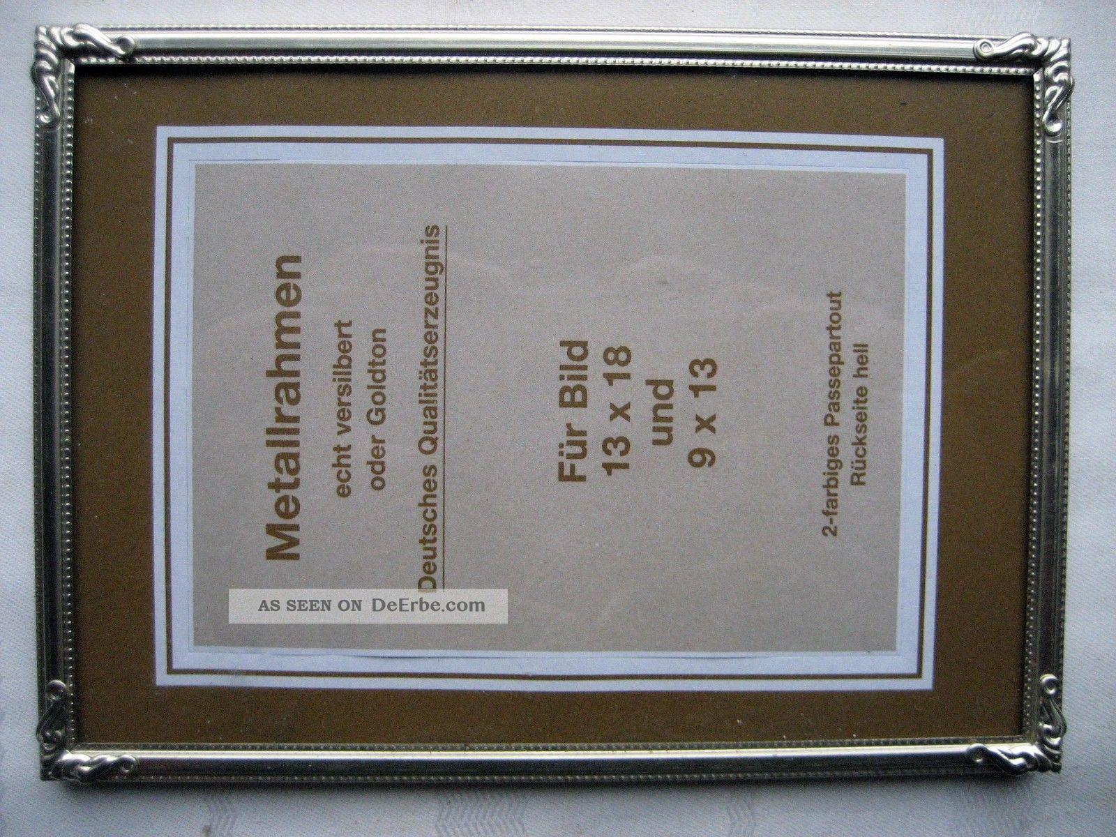 Alter Bilderrahmen, Rahmen, Metallrahmen, Metall, Gr. 18 X 13 Cm.