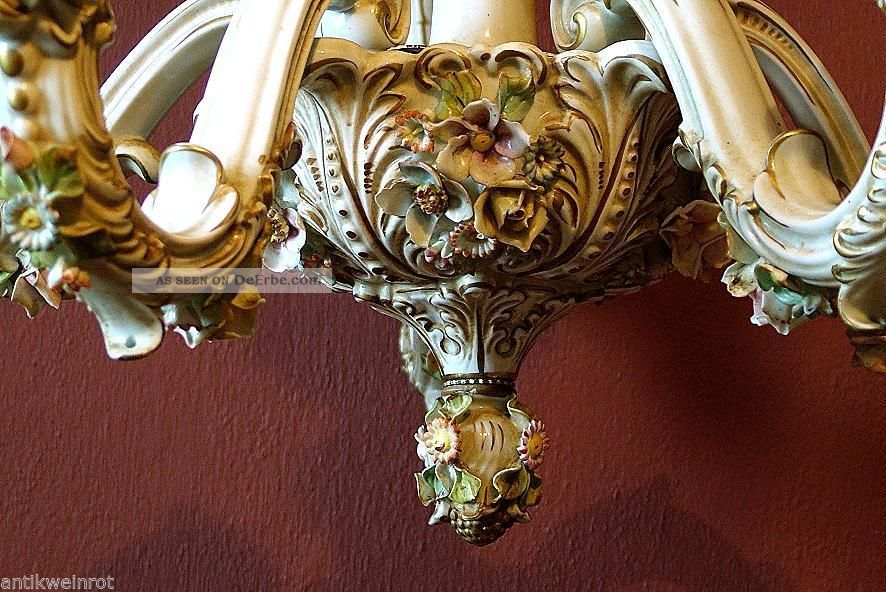 Kronleuchter Antik Porzellan ~ Kronleuchter lÜster porzellan chandelier capodimonte jugendstil