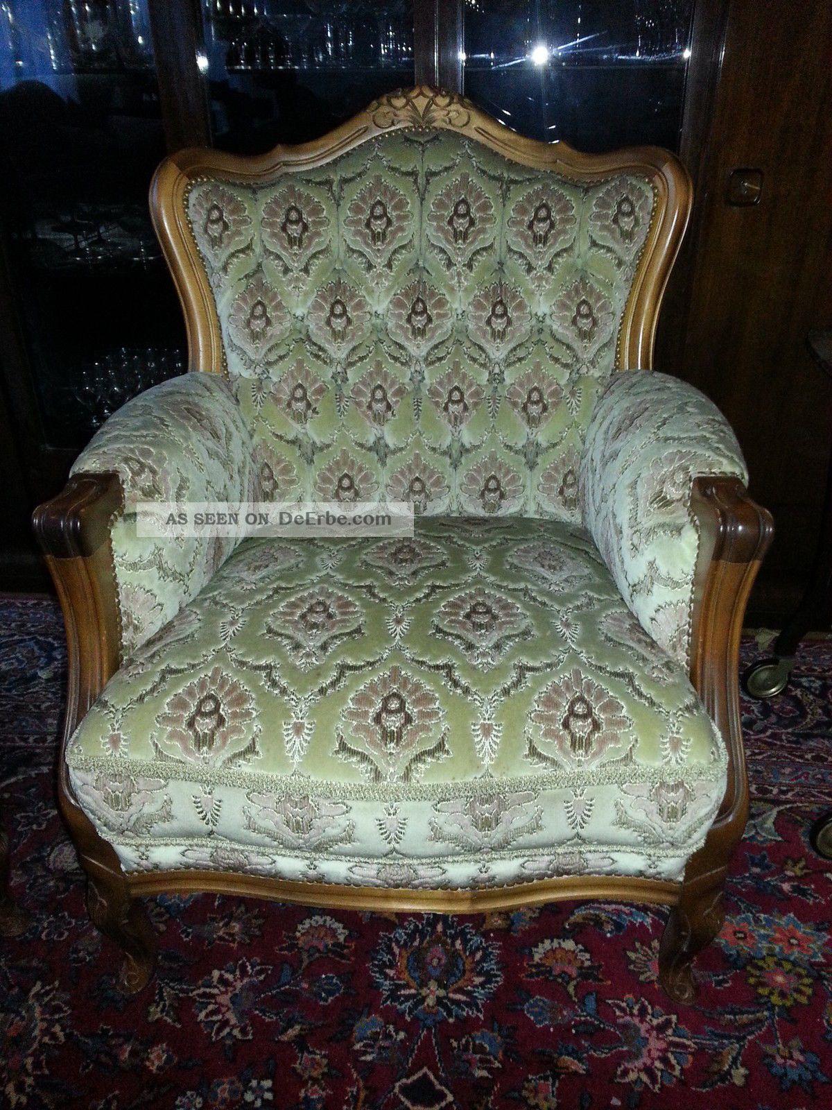 chippendale stilsofa sessel couchgarnitur