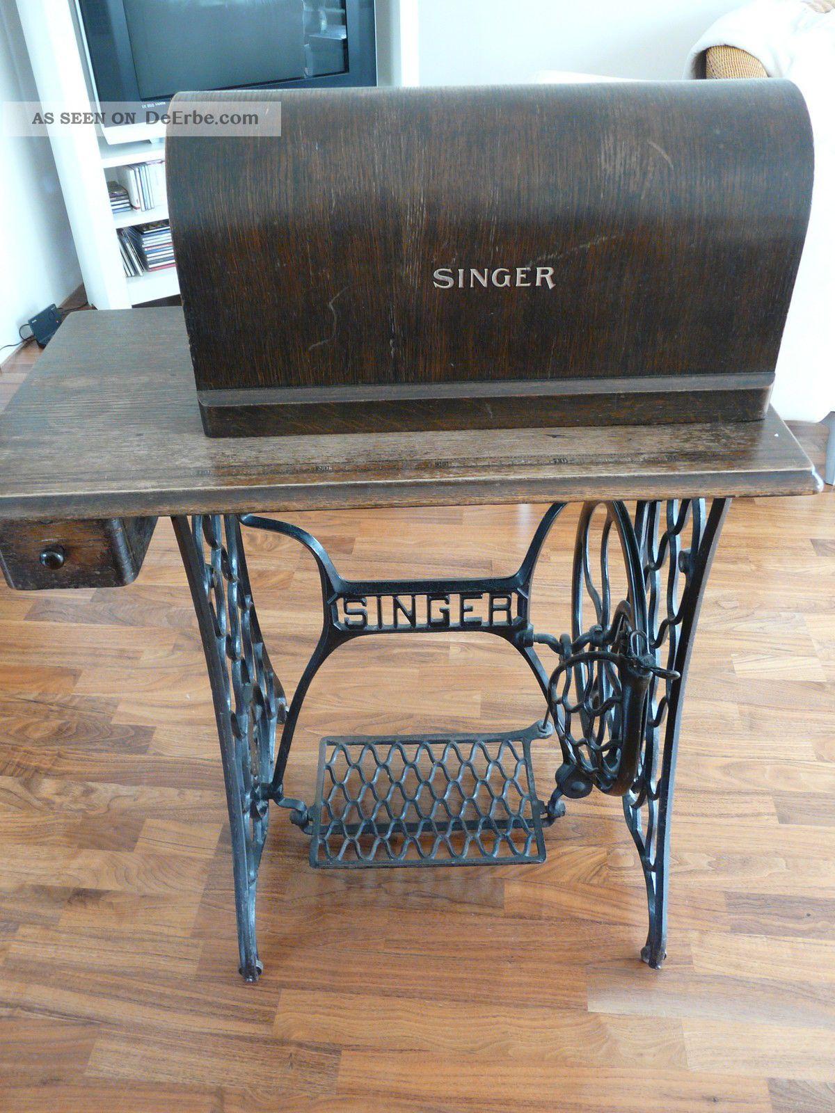 singer antike n hmaschine. Black Bedroom Furniture Sets. Home Design Ideas