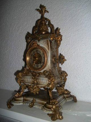 Dekorative Kpm Seeger Porzellanuhr/kaminuhr/tischuhr Um 1900 Bild