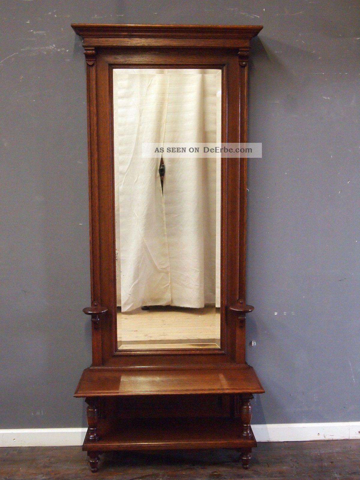 konsolen spiegel gr nderzeit um 1900 eiche spiegel facett schliff wundersch n. Black Bedroom Furniture Sets. Home Design Ideas