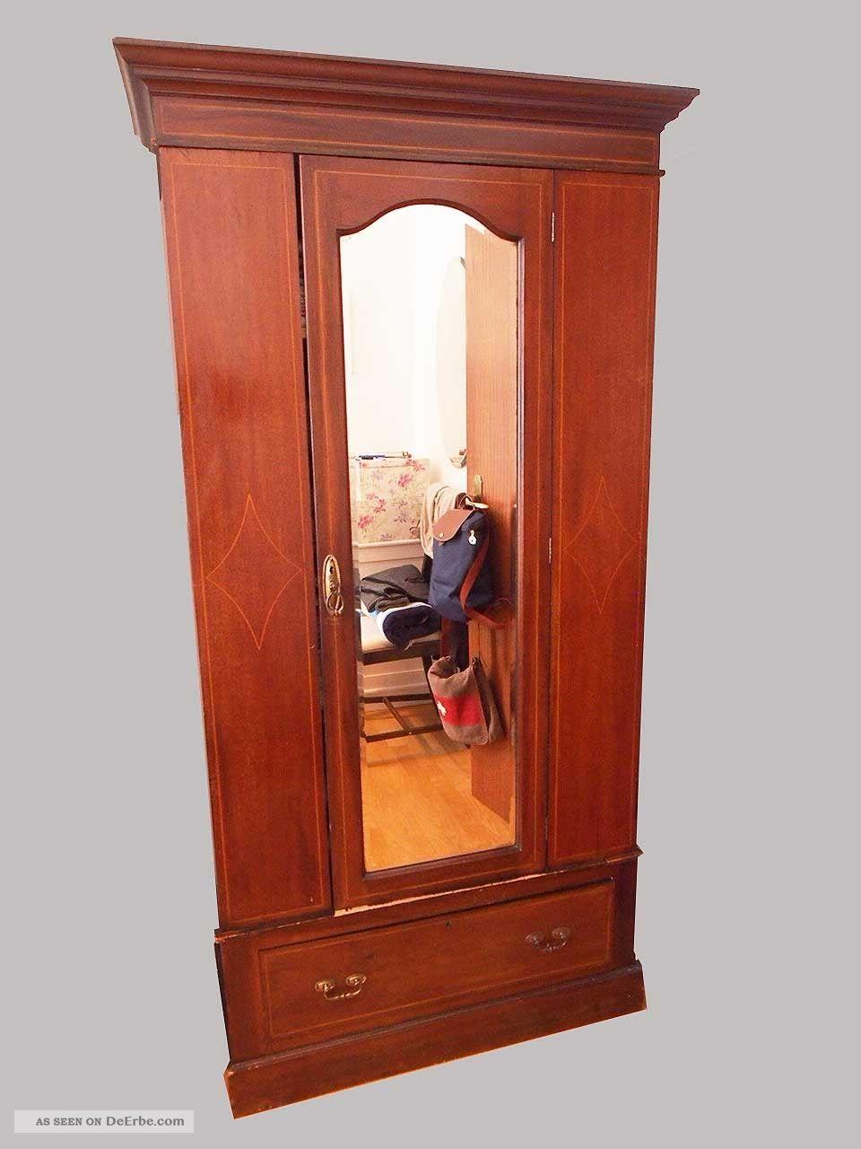 sch ner w sche schrank mahagoni um 1910 england. Black Bedroom Furniture Sets. Home Design Ideas