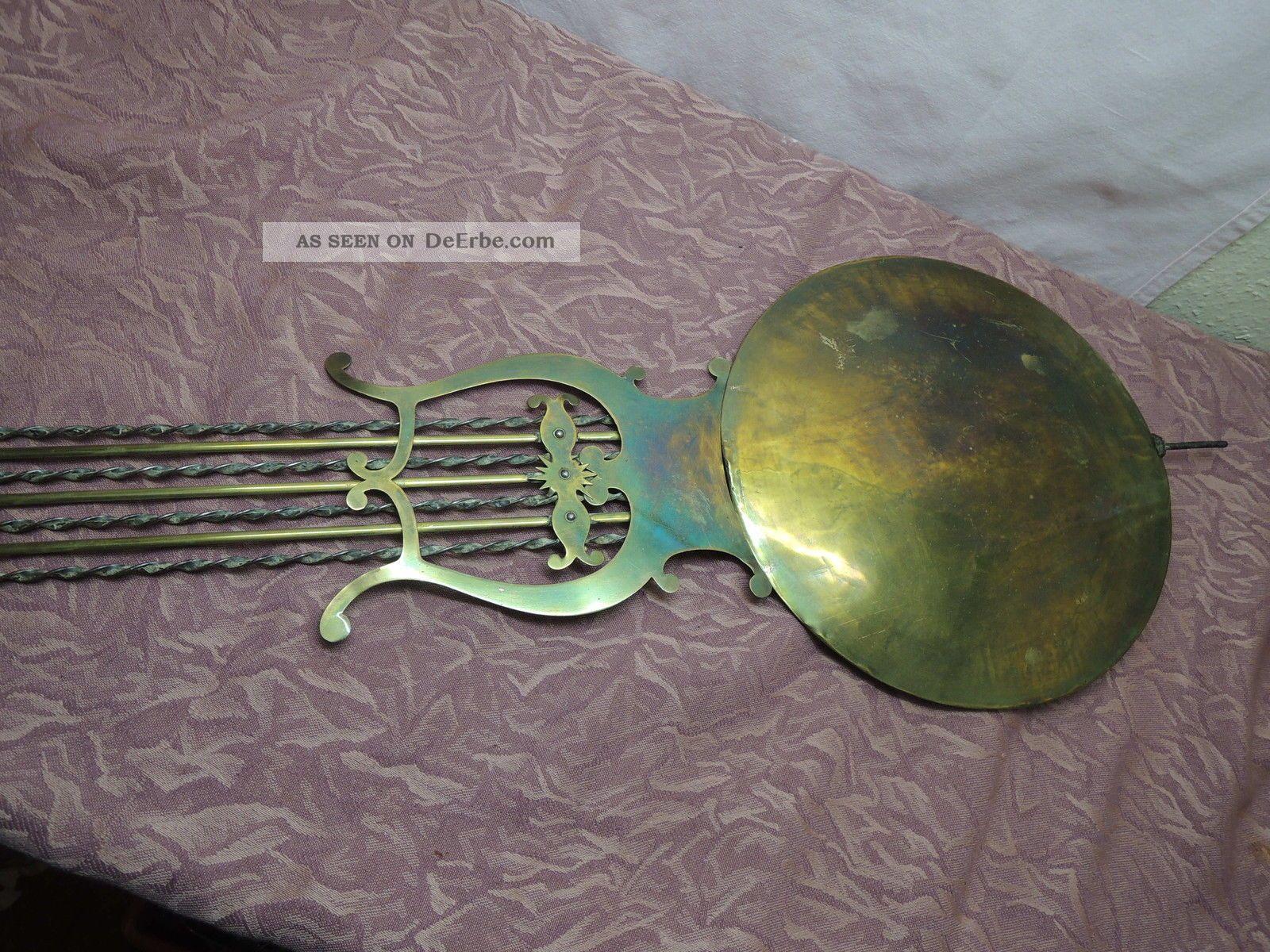 antike burgunder uhr comptoise wanduhr mit lyra pendel