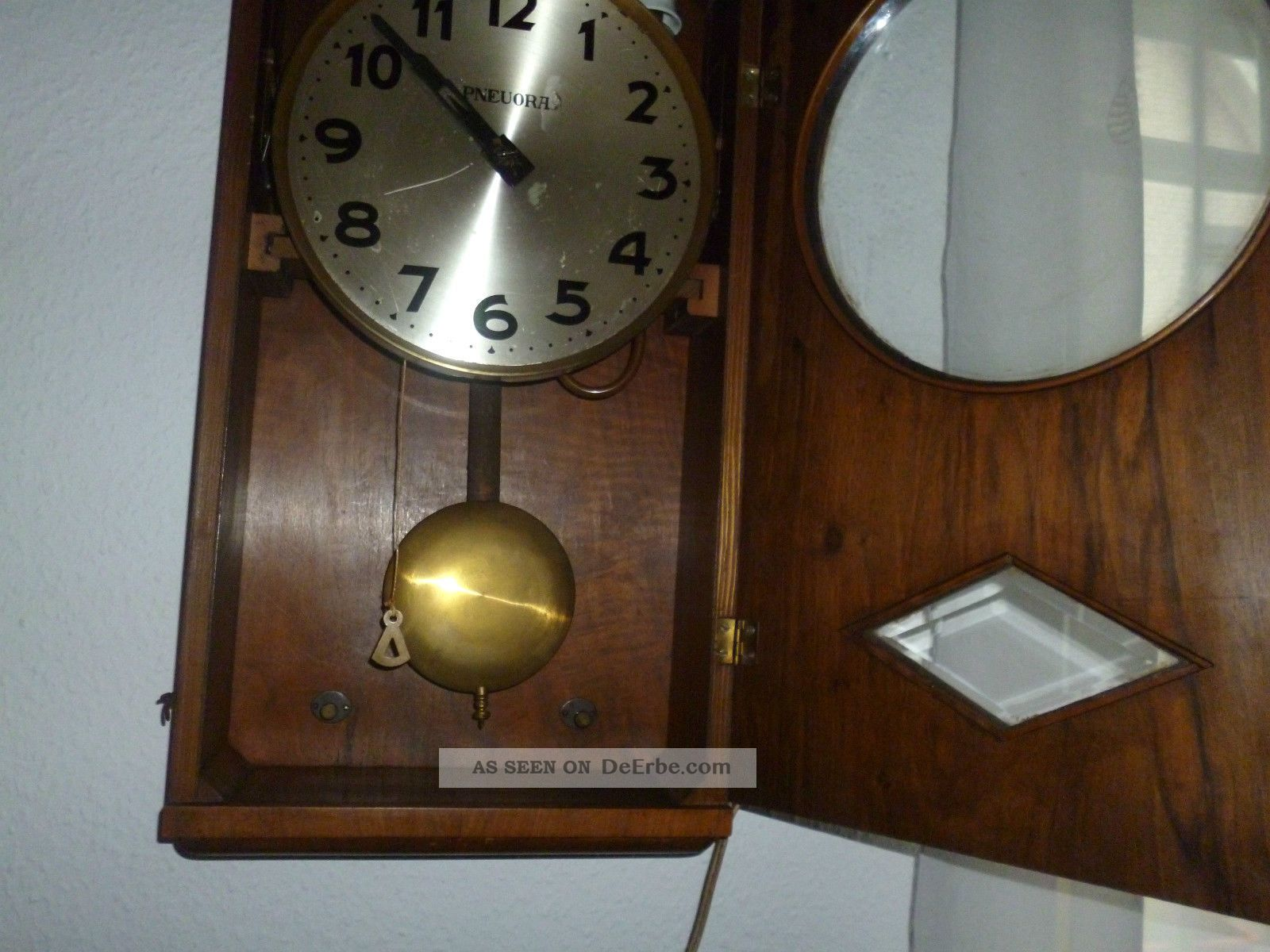 Antike Elektro Wanduhr Regulator Mutteruhr Um 1925