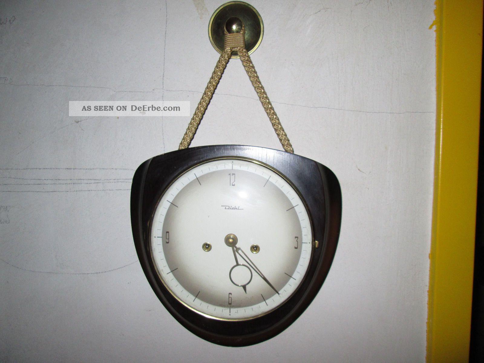 wanduhr kordeluhr diehl mit doppelklang gong. Black Bedroom Furniture Sets. Home Design Ideas