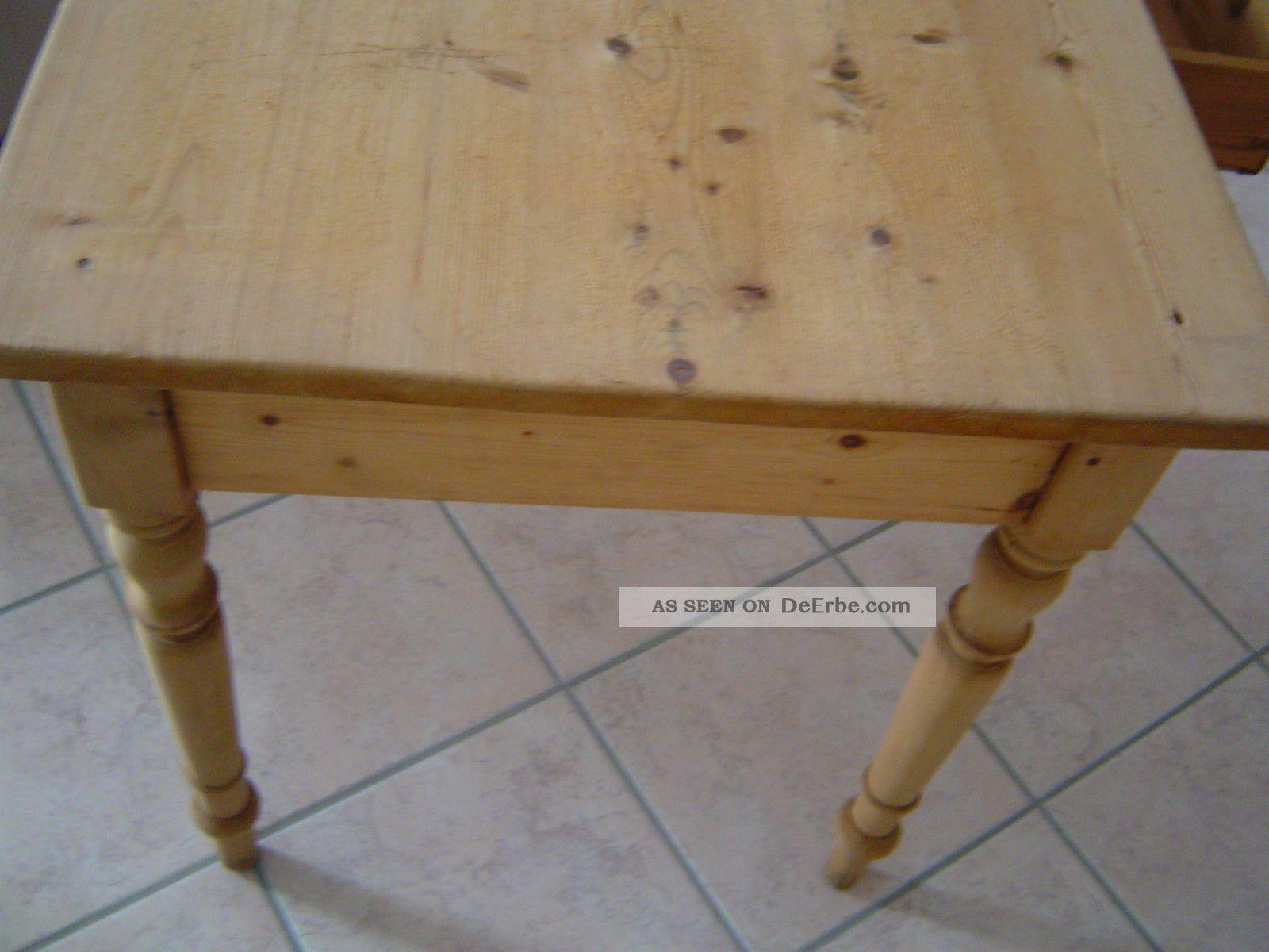 Antiker Tisch Esstisch Kuchentisch Weichholztisch Mit Schublade Schreibtisch