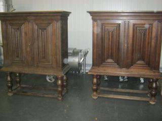 2 Stollenschrnke Paar Schrank Um 1920