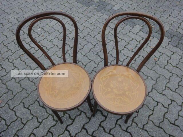 jugendstil paar bugholz st hle sitzplatte jugendstil. Black Bedroom Furniture Sets. Home Design Ideas