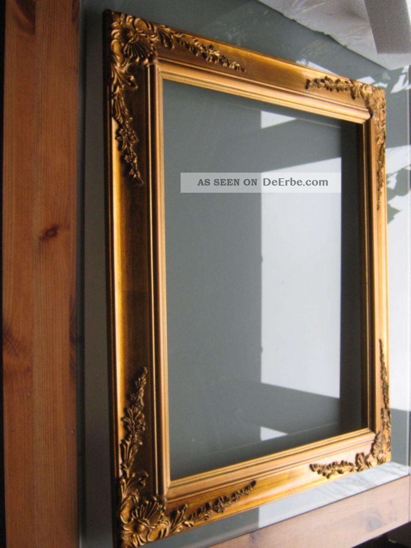 Großer Bilderrahmen Prunkrahmen Rahmen Wandrahmen Antik - Golden ...