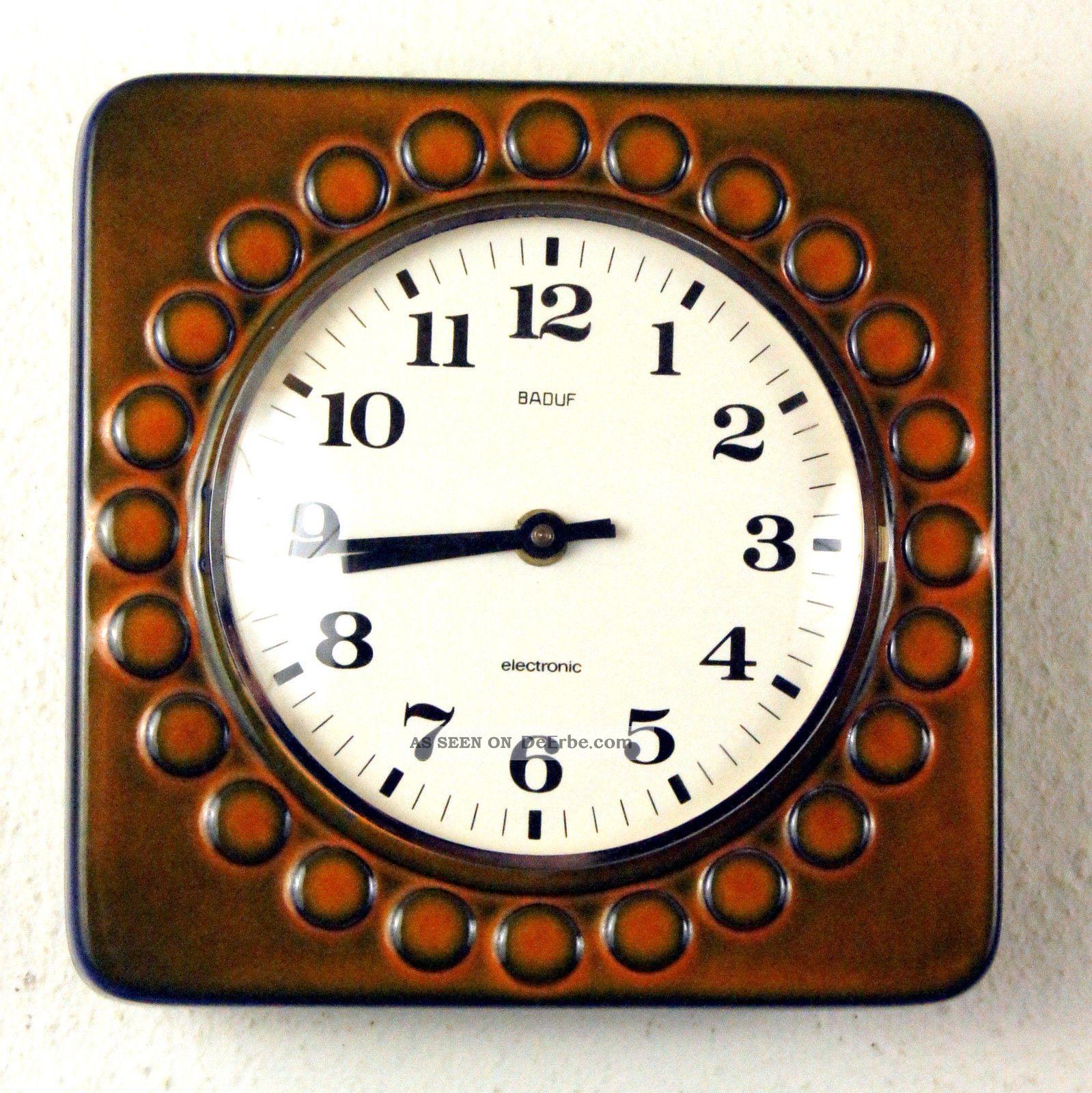 Baduf, Küchenuhr, Uhr, Wanduhr, Alte Uhr, Küchenwanduhr ...