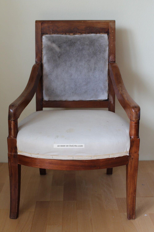 Empire biedermeier sessel armlehnsessel antik for Sessel antik